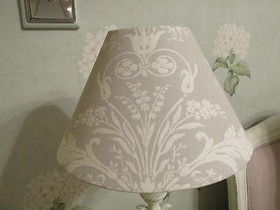 Handmade Coolie Lampshade Laura Ashley Violetta Iris /& Silver White fabric