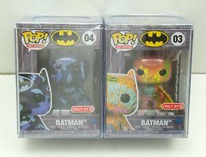 Batman-Artist-Art-Series-Funko-Pop-Lot-03-And-04-Target-Exclusive-w-Hard-Stack