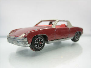 Diecast-Dinky-Toys-Volkswagen-Porsche-914-Red-Brown-Used-Condition-Repaint