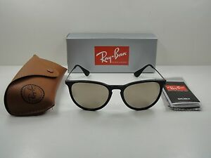 459b1db7353 RAY-BAN ERIKA SUNGLASSES RB4171 601 5A BLACK FRAME GOLD MIRROR LENS ...
