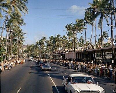 Kennedy motorcade through Honolulu Hawaii New 8x10 Photo President John F