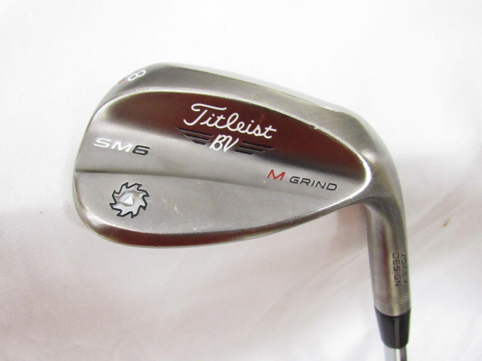 Utiliza la mano derecha  Titleist Vokey SM6 M gris 58.08  cuña Titleist BV Cuña De Acero W Flex  comprar barato