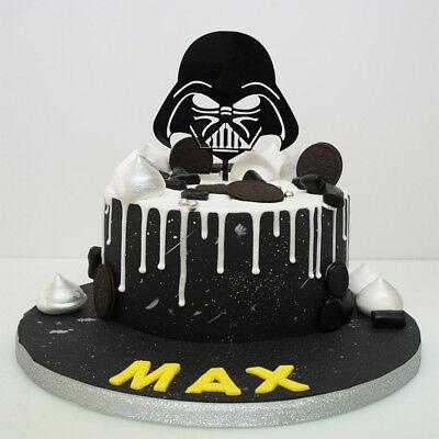 Strange Star Wars Darth Vader Acrylic Cake Topper Birthday Any Birthday Cards Printable Trancafe Filternl