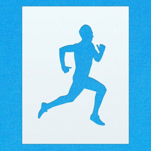Jogging Runner Running Sports mylar airbrush painting wall art crafts stencil