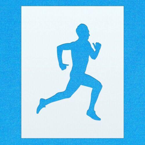 Jogging Runner Running Sports mylar airbrush painting wall art crafts stencil
