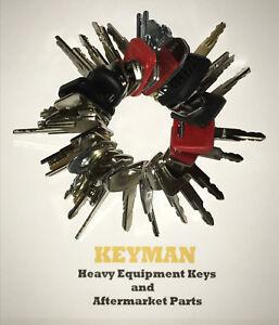39-Heavy-Equipment-Construction-Ignition-Key-Set-for-Cat-Case-Deere-Komatsu-JCB