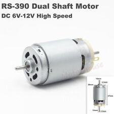 Rs 390 Dc6v 12v 25000rpm High Speed Large Torque 23mm Dual Shaft Electric Motor
