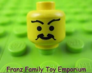 LEGO Yellow Minifig Head Body Part with Pointed Moustache