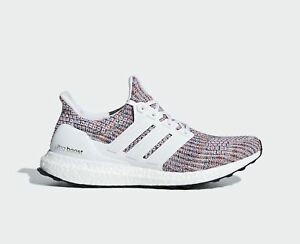 New ADIDAS Men Originals ULTRABOOST 4.0 Shoes (CM8111) White  Multi ... 29948a43448