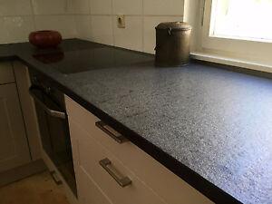 k chenarbeitsplatte naturstein arbeitsplatte nero assoluto k che granitplatte ebay. Black Bedroom Furniture Sets. Home Design Ideas