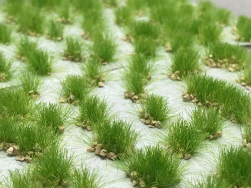 Miniature Model Self Adhesive Static Grass Tufts - 6mm Rocky Wild Spring