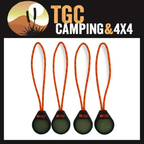 4 Pack Glow in the Dark Zipper Pulls for Tent Sleeping Bag Swag night