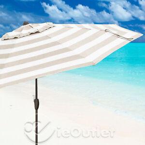 New 10 Aluminum Sunbrella Auto Tilt Patio Market Umbrella