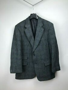 Harris-Tweed-Carl-Gross-Green-Blue-Plaid-Blazer-Sport-Coat-Jacket-25-42-52