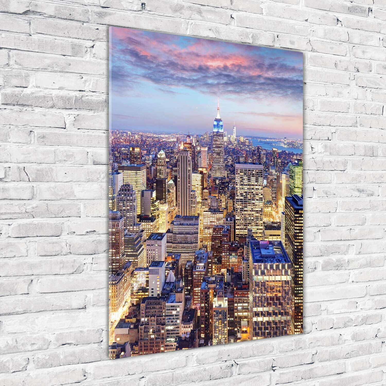Wand-Bild Kunstdruck aus Acryl-Glas Hochformat 70x100 New York