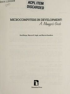 Microcomputers-in-Development-A-Manager-039-s-Guide-by-Noel-Berge