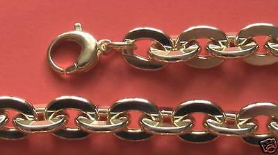 Ankerkette 10mm 1cm br vergoldet  Armband nach Maß Panzerkette Ankerarmband