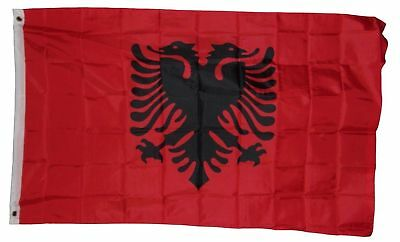 3X5 ALBANIA FLAG ALBANIAN FLAGS NEW BANNER SIGN F569