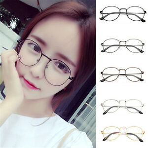 4fc2b70117b Korean Style Metal Frame Clear Round Lens Glasses Nerd Spectacles ...