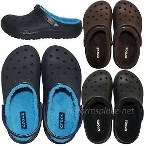 e40f2cfb0 Crocs Clogs Unisex Mens Womens Clogs Faux Fur Hilo Lined Clog 16151 ...