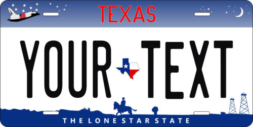 Texas 2008 License Plate Personalized Custom Auto Bike Motorcycle Moped