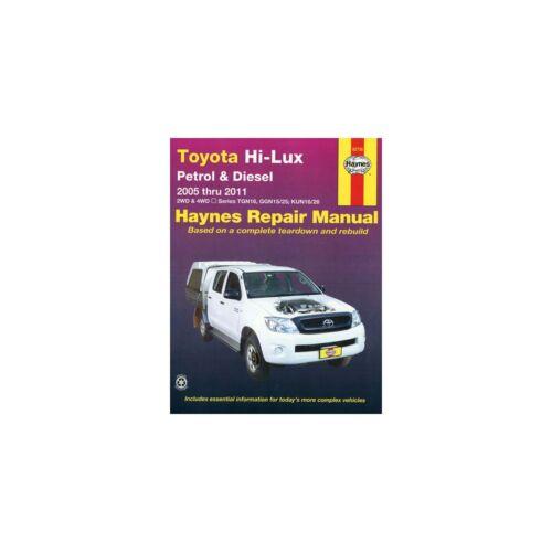 2WD//4WD 2005-2011 Repair Manual P/&D Genuine Haynes Workshop Toyota Hi-Lux