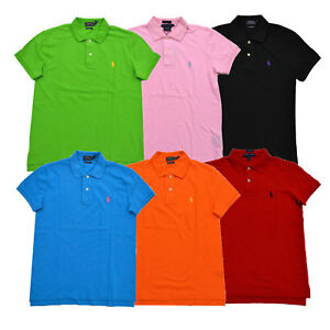 Ralph-Lauren-Womens-Polo-Shirt-Classic-Fit-Mesh-Collared-Blouse-Xs-S-M-L-New-Nwt
