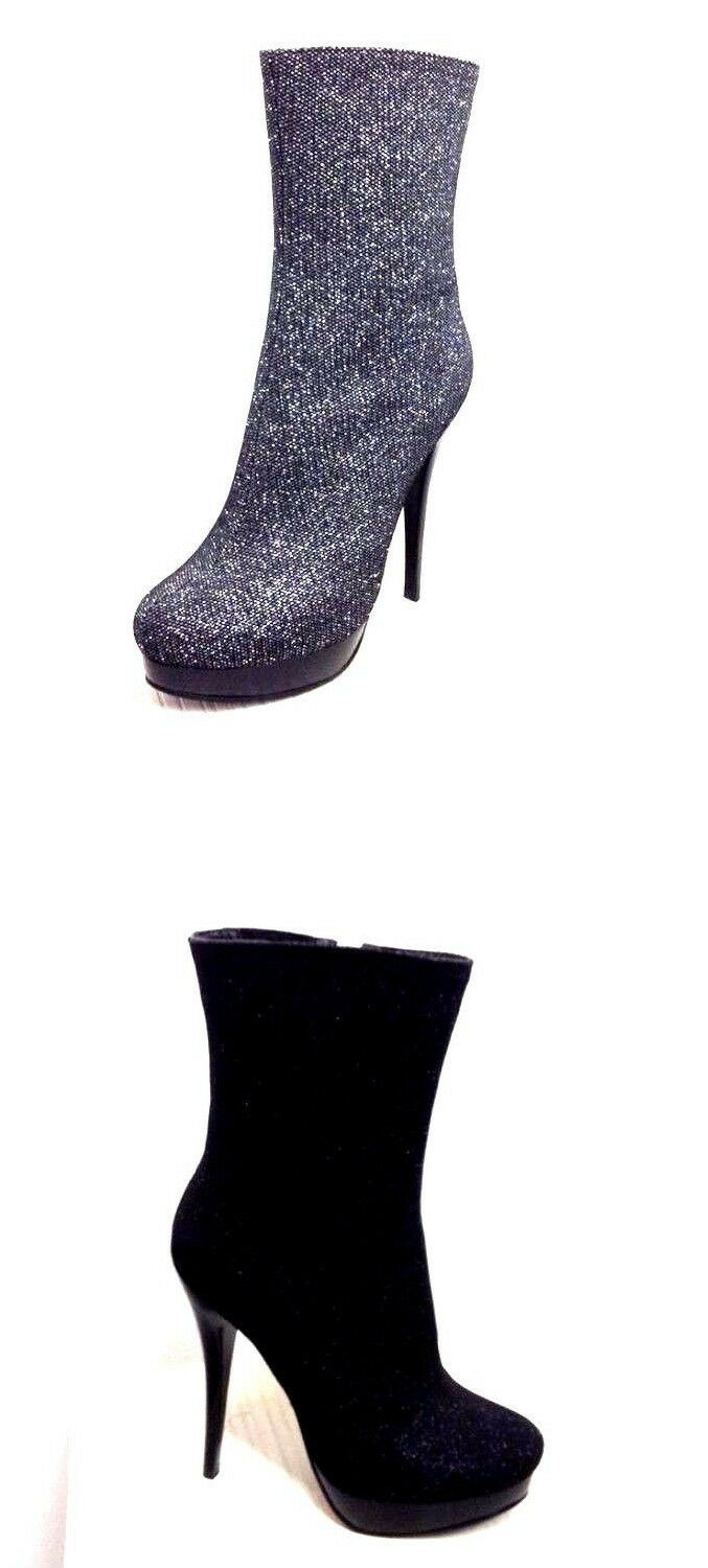 Italina By Summer Rio BD8660 Mid-Calf Stiletto Boots Choose Sz color