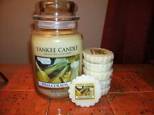 yankee candle 22oz JAR PINA COLADA + 6 TARTS