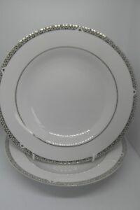 Royal-Doulton-Platinum-Soup-Bowls-x-2-22-5-cm-Porcelain-1st-Quality