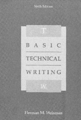 Basic Technical Writing Paperback Herbert N. Weisman