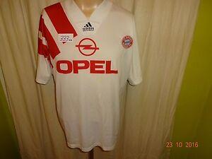 Fc-Bayern-Munich-original-adidas-hacia-afuera-camiseta-1991-1993-034-Opel-034-talla-m
