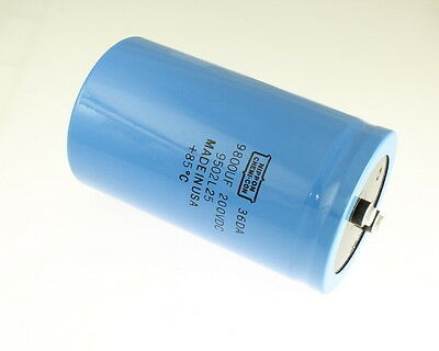 1x 5500uF 200V Large Can Electrolytic Aluminum Capacitor DC 200VDC 85C 5500mfd