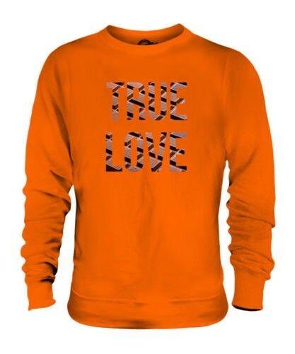 Schokolade True Love Unisex Pullover Top Geschenk Kakao Dunkel