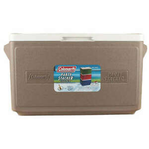 Coleman 3000005345 33-Quart 48-Can Interlocking Party Stacker Cooler - Gray