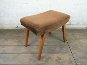 Mid-Century-Sitzhocker-Stool-Hocker-Polsterhocker-Vintage-50er-60er-Jahre