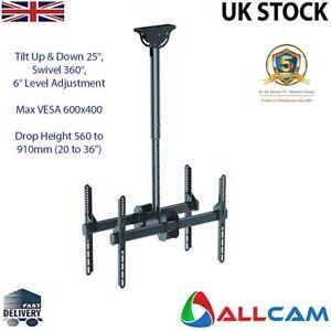 Allcam-Twin-Heavy-Duty-TV-Bracket-Ceiling-Mount-TV-Bracket-Height-560-to-910mm
