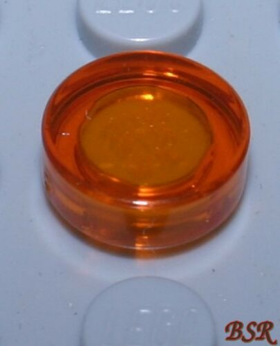 24 Stück transparent orange Rund Kacheln Fliesen 1x1 98138 /& unbespielt BB13