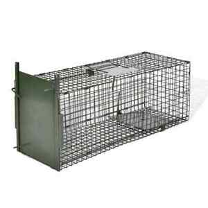 Humane Live Catch Fox Cat Trap Mesh Cage Rodent with 1 Door 80x25x25cm New