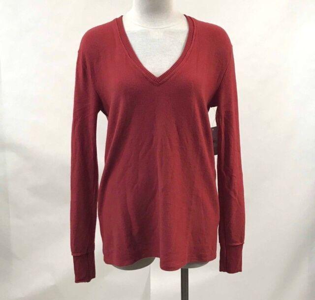 16d45691cf2 Nordstrom BP Women's Tunic Sweater Cozy Rib Trim V-Neck Red Pomegranate XXS  NWT