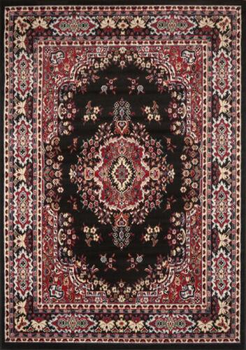 "PERSIAN BLACK AREA RUG 8 X 11 ORIENTAL CARPET 69 ACTUAL 7/' 8/"" x 10/' 8/"""