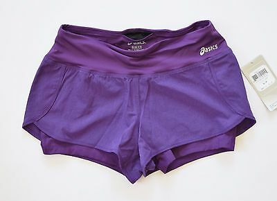 Asics Donna Fit Sana 2 n 1 Pantaloncini – Viola TAGLIA S | eBay