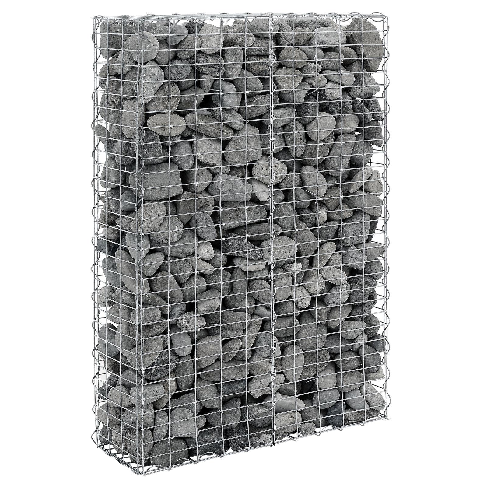 Gabione 100x30x150cm steingabione cesta de piedra del muro de muro de alambre cesta piedra-Gabionen