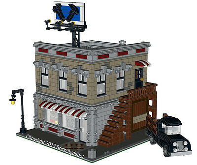 Lego Custom Modular Building Corner Hardware Store INSTRUCTIONS ONLY!! 10185