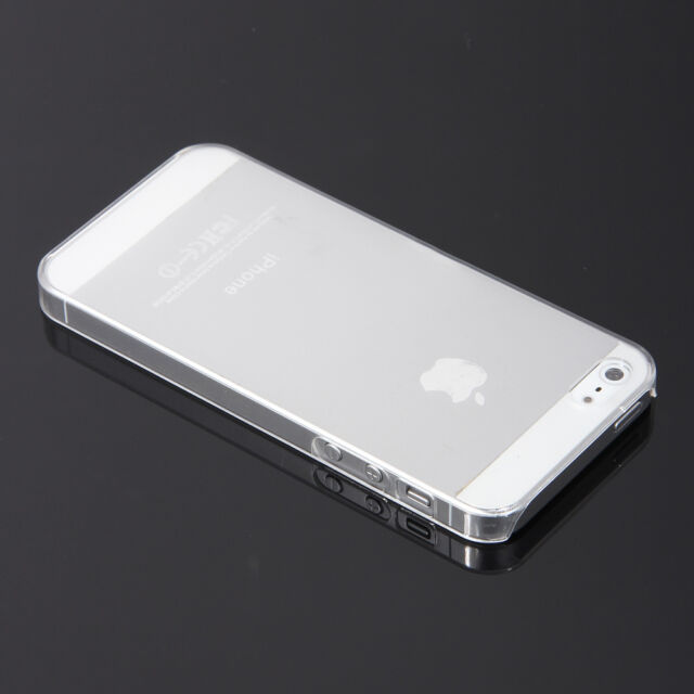 0.5mm Ultra Slim Glossy Clear Crystal Snap-On Hard Case Cover for iPhone 5 5S