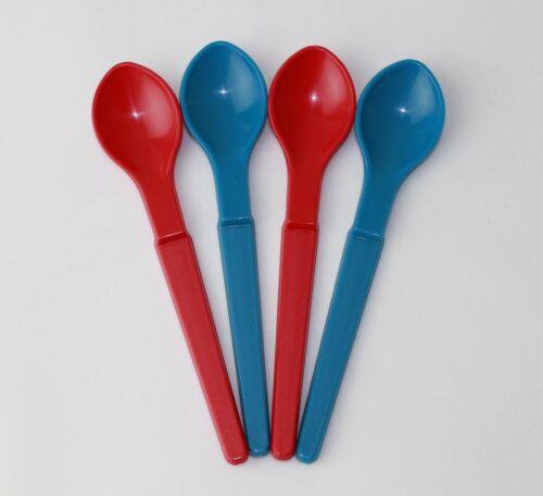 2xrot TUPPERWARE bambini sospesa Cucchiaio Plastica Cucchiai Cucchiaio per bambini 2 xdunkles Turchese