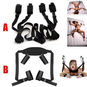 Adult-Restraint-Under-Bed-System-Set-Bondage-Strap-Cuffs-Kit-BDSM-Toys
