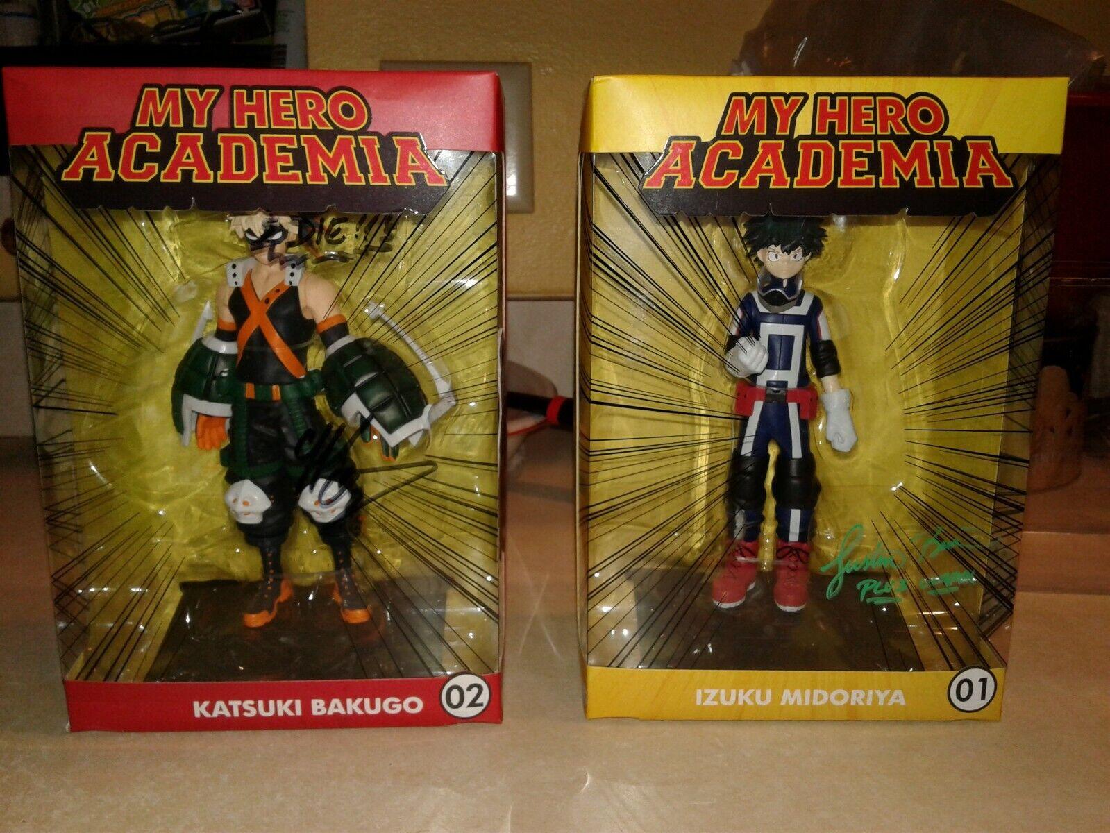 My Hero Academia KATSUKI BAKUGO & Izuku Midoriya Figure set(signed by voice act)