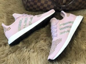 Details zu Crystal Adidas Swift Run W Gr. 40 23 rosa NMD Glitzer mit Swarovski Elements