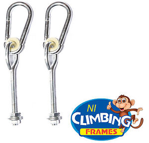 PAIR-039-o-039-type-swing-hook-galvanised-steel-Ideal-3-039-039-post-Swing-set-Climbing-M10